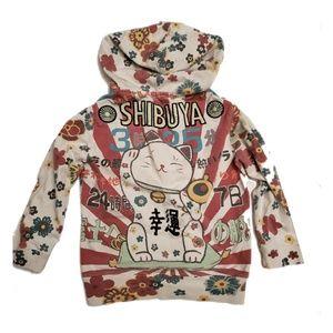 Lucky Brand Japanese Shibuya Cat Hoodie 7 RARE